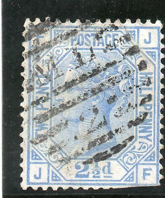 G.B. - used QV - SG142 ( Plate 19 )  - 2 1/2d Blue  - Cat Val £40