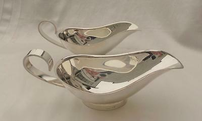 Lovely Pair Of Vintage Christofle 'chrisotel' Hotelware Silver Plate Sauce Boats