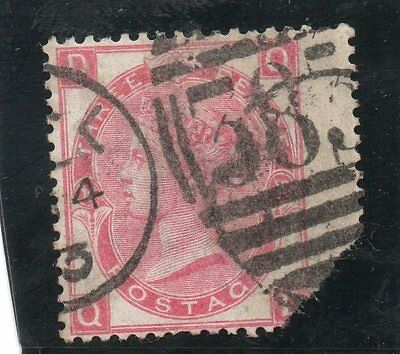 G.B. - used QV - SG103 ( Plate 10 )  - 3d Rose  - Cat Val £120