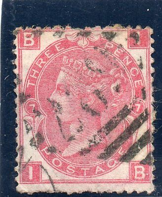 G.B. - used QV - SG103 ( Plate 7 )  - 3d Rose  - Cat Val £60