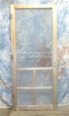 "36"" x 83"" Oversized Screen Door Vintage Architectural Salvage from Mansion c"