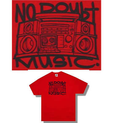 No Doubt! Boom Box Music Red T-Shirt Large Licensed New