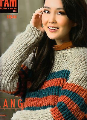 SUBLIME CATALOGUE TRICOT FAM LANG urban N°225.SUPERBE PULL FEMME 46 MODELES