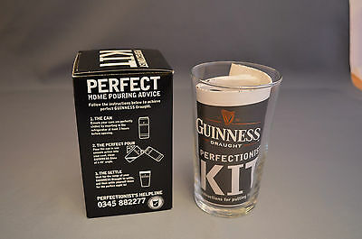 Perfectionist Kit - Guinness Draught Glass with Instructions to Pour Guinness
