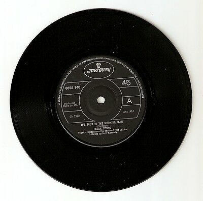 """Faron Young - It's four in the morning Bw It's not the miles  7"""" Vinyl 1972"""