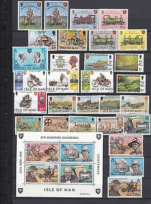 Isle Of Man Superb 1970's Mnh Collection !!!!!!!!!!!!!!!!!!!