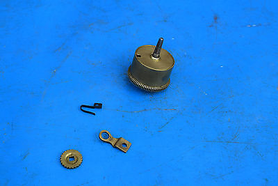 antique french clock  spring barrel  and clips