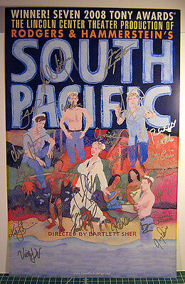 South Pacific Window Card Signed by the Cast