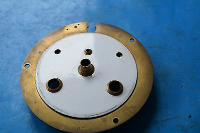 antique french  clock open escapement enamel dial part  and back plate