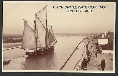 SPRY POSTCARD SAILING SHIP 2 MASTED SCHOONER LITTLEHAMPTON SUSSEX c1920