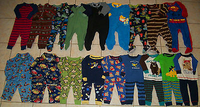 Baby Boys Pajamas/Sleepers Lot of 27 Size 12/12-18 months winter