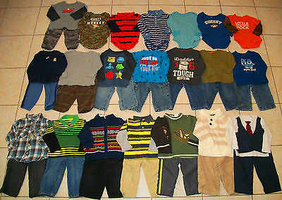 Baby Boys Clothes/Outfits Lot of 36 Size 12/12-18 Month winter