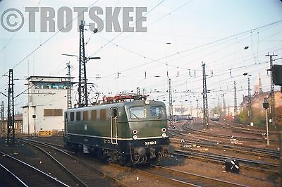 35mm Slide DB West Germany Railways Electric Loco 141 150 Cologne 1975 Original