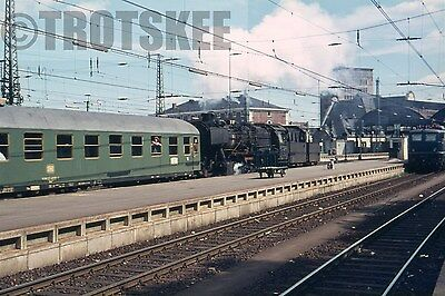 35mm Slide DB West Germany Railways Steam Electric Loco Scene  1970 Original