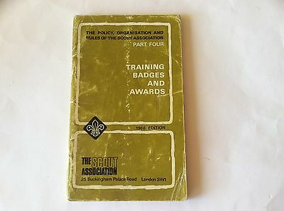 Scout Assn. Policy, Organisation & Rules 1968 -Training Badges & Awards  Part 4