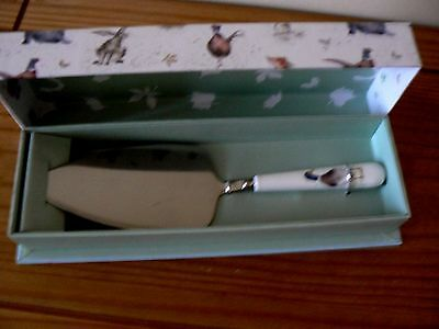 Royal Worcester / Wrendale Designs CAKE SLICE Duck / Bird Handle - NEW & BOXED