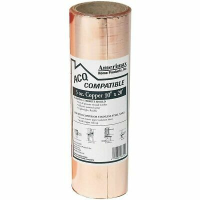 "Amerimax Home Products 85067 Laminated 10"" X 20' Copper Roof Flashing"