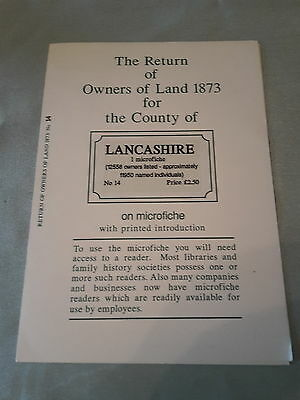 Return of Owners of Lane 1873 for the County of Lancashire on microfiche