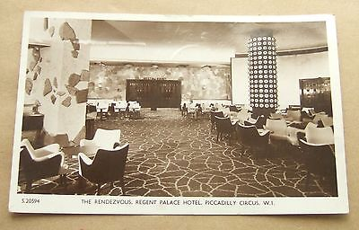 Postcard Real Photo, The Rendezvous Regent Palace Hotel Picadilly London (1960)