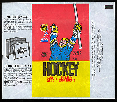 1987-88 Opc O-Pee-Chee Hockey Wax Pack Wrapper Luc Robitaille Rc Nhl Wallet Ad
