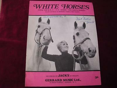 WHITE HORSES - Sheet Music - JACKY - 1968 - From BBC TV Series