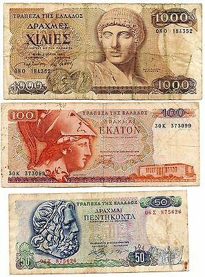 GREECE   - 3  great  different   notes