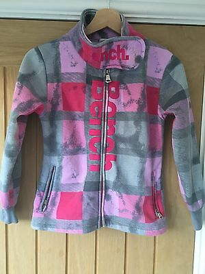 BENCH GIRLS ZIP UP TOP/JACKET Pink & Grey, Velcro Neck 128cm 7/8 ??
