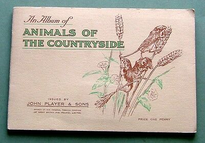 Players 1939 - Animals Of The Countryside - Full Set Of 50 In Album - Ex. Cond.