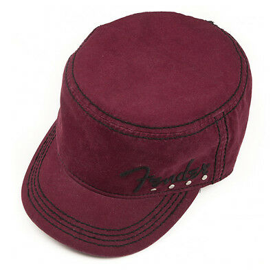 Genuine Fender Legion Military Style Studded Hat Red Wine Small/MED 9106629306 (