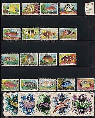 Fish Sets MNH Cocos Keeling Islands Russia