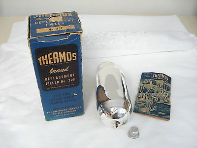 Vintage THERMOS Brand Pint Replacement Filler No. 32F in Box w/ Instructions