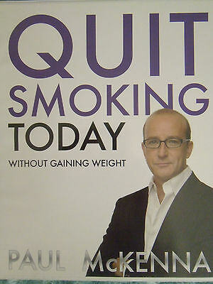 Paul Mckenna Quit Smoking Today CD's x 4 & Booklet
