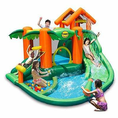 Tropical Play Centre (9364) Jumping Castle and Water Slide
