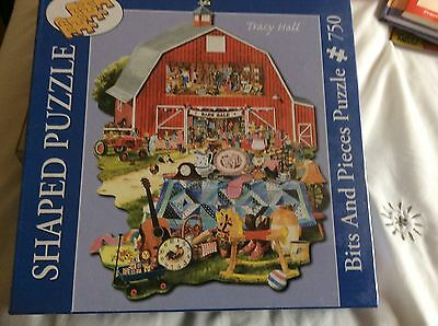 NEW Bits And Pieces Shaped  JIGSAW PUZZLE 750 Piece BARN SALE - Tracy HAll