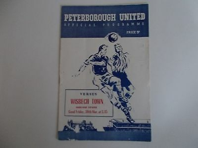 PETERBOROUGH UNITED v WISBECH TOWN 1956