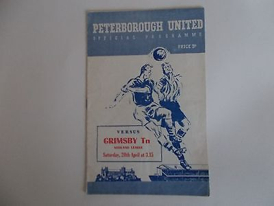 PETERBOROUGH UNITED v GRIMSBY TOWN 1957