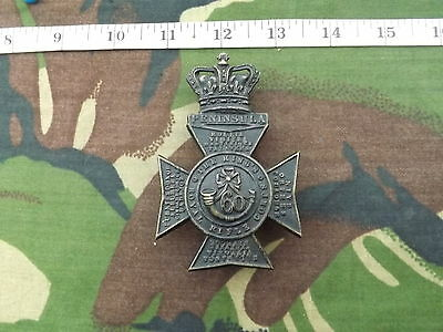 Victorian KINGS ROYAL RIFLE CORPS, Blackened Brass, Crossbelt Badge