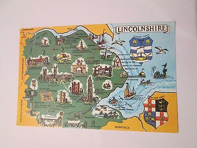 Postcard of Lincolnshire posted 1973