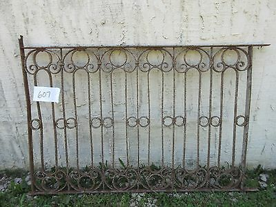 Antique Victorian Iron Gate Window Garden Fence Architectural Salvage Door #607