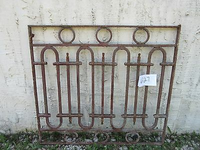 Antique Victorian Iron Gate Window Garden Fence Architectural Salvage Door #627