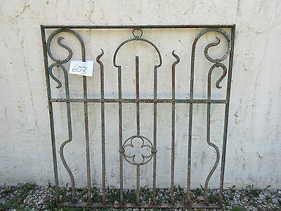 Antique Victorian Iron Gate Window Garden Fence Architectural Salvage Door #603