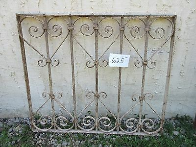 Antique Victorian Iron Gate Window Garden Fence Architectural Salvage Door #625