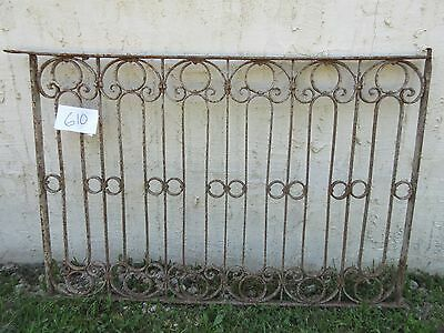 Antique Victorian Iron Gate Window Garden Fence Architectural Salvage Door #610