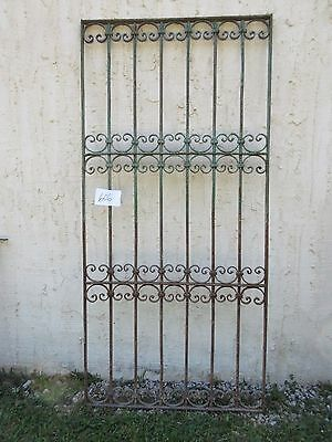 Antique Victorian Iron Gate Window Garden Fence Architectural Salvage Door #606