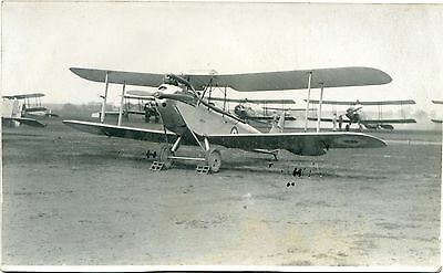De Havilland Moth - Old Real Photo Postcard
