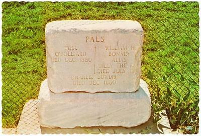 Billy the Kid and Pals Grave at Cemetery Fort Sumner NM 1970s Vintage Postcard