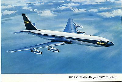 Boac - Boeing 707 - Airline Issued Postcard View 3