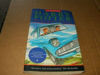 Harry Potter and the Chamber of Secrets by J.K. Rowling, Softcover Book,2000.