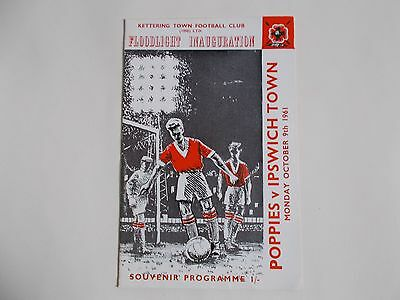 KETTERING TOWN v IPSWICH TOWN  1961 FLOODLIGHT INAUGURATION MATCH