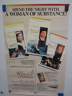A WOMAN OF SUBSTANCE Jenny Seagrove TV Series Original Vintage Poster